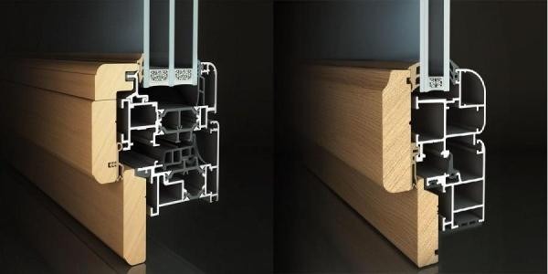 Infissi in alluminio legno